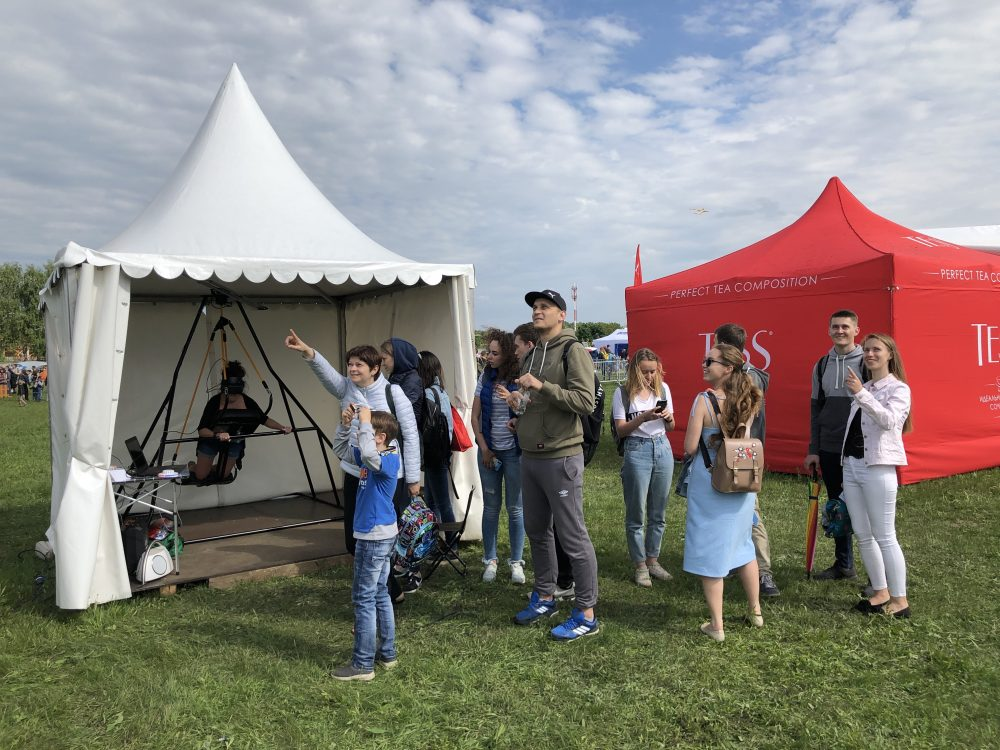 Дельтаплан VR на фестивале «Небо»